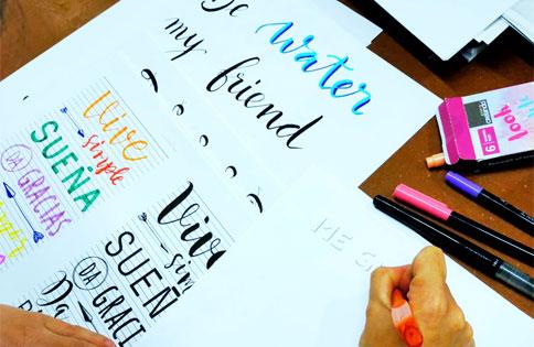 L'Atelier-de-carlota-curso-de-lettering-premia-de-mar