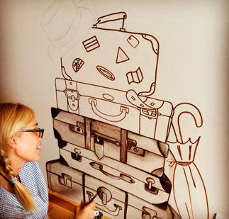 L'Atelier de carlota, encarga murales a medida